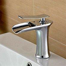 YZDD® Wasserhahn Wasserfall-Kupfer Bad Eitelkeit