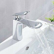 YZDMC Chrom Waschbecken Wasserhahn Deckmontage
