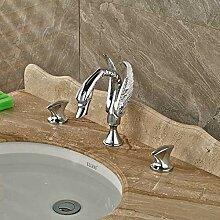 YZDMC Doppelgriff Swan Badezimmer Waschbecken