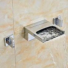 YZDMC Waschbecken Mixer Wasserhahn Doppelgriff