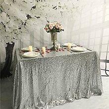 YZEO Tischtuch mit Pailletten, für Hochzeiten,