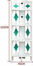 YZjk 4 Tier / 5 Tier Regal Folding Bookcase Ecke