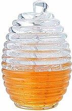 Yzki transparentes Honigglas mit Rührstab,