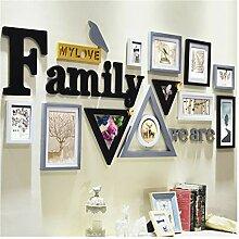 YZQ Foto Wand Familie Englisch Brief Kombination
