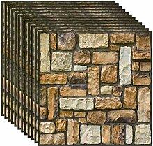 YZSH Faux Brick 3D Wandpaneele Vintage Decor