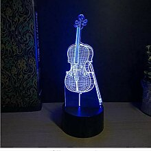 YZWD Illusion Lamp 3D Illusion Nachtlicht 3D Lampe