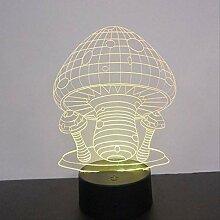 YZWD Illusion Lampe Dekor Lampe 3D Led Nachtlicht