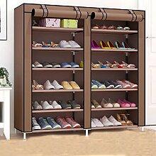 YZXJ 6 Tiers tragbare Schuhschrank Schrank mit Stoffbezug Schuh Speicherorganisator Kabine