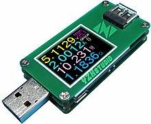 yzxstudio 1270 USB Power Meter 0,0001 V 0,0001 eine 4–24 V von kaayee, Spannung, Stromstärke, AH/WH, D +/D Anerkennung, Kabel-Widerstand mit yzxstudio Firmware V3.0.