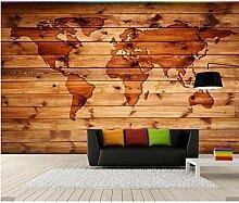 Yzybz 3D Retro Weltkarte Tapete Wandbild Mit Holz