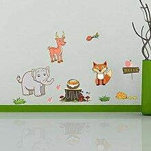 Yzybz Neue Cartoon Tier Wandaufkleber Elefant