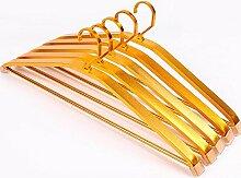 Z&HAO Kleiderbügel Aluminiumlegierung Nass und trocken Rutschfest Kein Spurenmetall Widen Hängender Kleiderständer 10 , Gold , style 1
