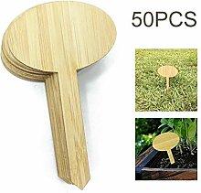 Z-LIANG 50pcs Oval Bambuspflanze Etiketten
