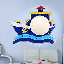 Z&MDH Piraten-Boots-Wandleuchte, Kinderzimmer Nachttisch-Balkon Schlafzimmer Dekoration Wandleuchte, Cartoon kreative Lampe, 33cm * 40cm