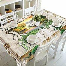 Z&N 3d home Dekoration staubdicht wasserdicht anti-hot Nachttischdecke Pad, Couchtisch Tisch Mehrzweck verschiedene Größen von Umwelt Wallpaper (C1),D,178*274cm
