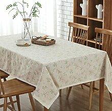 Z&N Die neue auf dem Land Baumwolle und Leinen Tischtuch Staubtuch TV-Schrank Stoffabdeckung waschbar Tischdecken Vermeidung von Umweltverschmutzung Wohnkultur A140*200