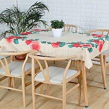 Z&N Einfache EuropäIsche Stil Esstisch KüChe Esstisch Top Dekoration TischtüCher Rechteckige Kaffee Tuch Multifunktionale Staubdichte Outdoor Picknick Party TischdeckeA140*180cm