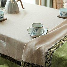 Z&N Ethnischer Wind Hochwertiger BettwäSche Restaurant Tischdecken Couchtisch TV-Schrank Nachttisch Schreibtisch Tischdecke Multifunktionale Wohndekoration TischdeckeB130*180cm