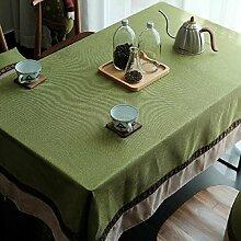 Z&N Ethnischer Wind Hochwertiger BettwäSche Restaurant Tischdecken Couchtisch TV-Schrank Nachttisch Schreibtisch Tischdecke Multifunktionale Wohndekoration TischdeckeA140*200ccm