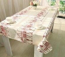 Z&N Europäisch Baumwolle alle Größen Tischdecken Tischdecken Tischdecken Haus Hochzeit Party Bankett DekorationA140*160cm
