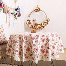Z&N Europäisch Luxus Spitze Tischdecke Mehrzweck-Picknick im Freien Party Tischdecke geeignet für Casual Dining Haus Restaurant Café HotelA140*140cm