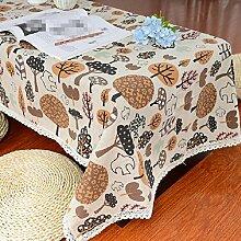 Z&N EuropäIsch Stil Spitze KüChe Restaurant Tischdecken Wasserdicht Leinen Multi Verwendung Tisch Stoff Kaffee Party Hotel Garten Outdoor Dekoration Wachstuch Waschen KüChentextilien Muster,140*250cm