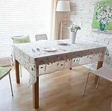 Z&N Europäische Baumwolle Stickerei Tischtücher Couchtisch Tuch geeignet für alle Arten von Haushaltsgegenständen Deckel Handtuch Tischdecke Staub wischen saubere TuchB140*220cm
