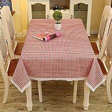 Z&N EuropäIsche Hochwertige Leinen TischtüCher KüChe Esstisch Dekoration Tischdecken Couchtisch Tuch Nachttische TV-Schrank Staubschutz Mehrzweck-Hotel Café Dekoriert TischdeckeK60*60cm(2pcs)