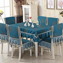 Z&N Europäische Jacquard-Baumwolle Tischtücher Couchtisch Tischdecken Nachttisch Abdeckung Handtücher geeignet für eine Vielzahl von Wohnaccessoires Schutz DeckentuchB130*130cm