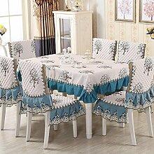 Z&N Europäische Jacquard-Baumwolle Tischtücher Couchtisch Tischdecken Nachttisch Abdeckung Handtücher geeignet für eine Vielzahl von Wohnaccessoires Schutz DeckentuchA150*240cm