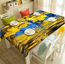Z&N Europäische neue verschiedene Größe Küche wasserdicht Antifouling Anti-Hochtemperatur kann gewaschen werden Polyester Tisch runde Tischdecke lebende Dekoration Tischdecke ,F,round 180cm