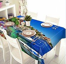 Z&N Europäische neue verschiedene Größe Küche wasserdicht Antifouling Anti-Hochtemperatur kann gewaschen werden Polyester Tisch runde Tischdecke lebende Dekoration Tischdecke ,D,round 274cm