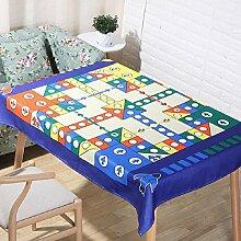 Z&N EuropäIschen Stil Kreative Tischdecke Couchtisch Tuch Hochwertige Leinen Rechteckige MöBel Leben Hotel Wohnzimmer Schlafzimmer Dekoration Tischdecke Weich AtmungsaktivB140*160cm