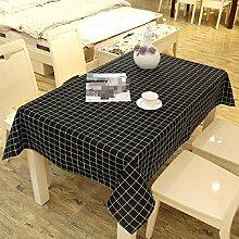 Z&N EuropäIschen Stil Retro Leinen Tischdecke Couchtisch Tuch Haus Hotel Dekoration Tischdecke Mehrzweck Outdoor Picknick TischdeckeB100*140cm(2pcs)