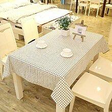Z&N EuropäIschen Stil Retro Leinen Tischdecke Couchtisch Tuch Haus Hotel Dekoration Tischdecke Mehrzweck Outdoor Picknick TischdeckeE140*250cm