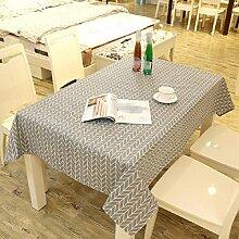 Z&N EuropäIschen Stil Retro Leinen Tischdecke Couchtisch Tuch Haus Hotel Dekoration Tischdecke Mehrzweck Outdoor Picknick TischdeckeC140*250cm