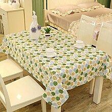 Z&N EuropäIsches Leinen Rechteckige Tischdecken Staubtisch Tuch Hauptdekoration Deckel Tuch Couchtisch Tuch Mehrzweck Garten Garten Picknick TischdeckeD120*160cm