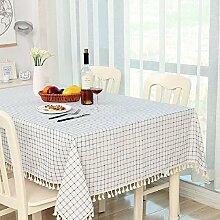 Z&N Hochwertige Bettwäsche Tischtücher Couchtisch Tuch Nachttischtücher eine Vielzahl von Farbgrößen der Tischdecken multifunktionale Heimtextilien TischdeckeD110*140cm