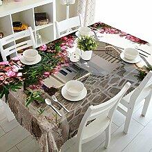 Z&N home Dekoration staubdicht wasserdicht anti-hot Nachttischdecke Pad, Couchtisch Tisch Mehrzweck verschiedene Größen von Umwelt Wallpaper (C1),B,152*228cm