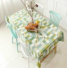 Z&N Im europäischen Stil Garten karierter Druck Tischdecken Western Tischtuch dicke Tischdecken Tischdecken Maschinenwäsche Abendessen ein sommerliches Picknick und Tischdecken A100*100cm