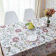 Z&N Klassisch Pastoral Garten Garten Zuhause Restaurant Dekoration Tischdecke Kaffeetisch Tuch Baumwoll Kabinett Tuch Schreibtisch Mehrzweck Tischdecke Staubdicht Antifouling GewaschenA90*140cm(2pcs)
