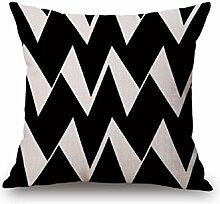 Z&N Kreative schwarz und weiß geometrische Reihe hochwertige Baumwolle Leinen Kissen Kissenbezüge Kissen Taille für Sofas Auto Kissen Einrichtungsgegenstände A18in*18in*1pc