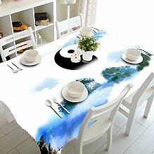 Z&N Küche Haushalt Dekoration Tischdecken Natürliche pastorale Szene Umweltschutz Polyester-Faser wasserdicht Anti-Fouling kann gewaschen werden verschiedene Größen Mehrzweck-Tischdecke Tee Bett Nachttisch Schrank Matte(P),C,90*150cm