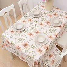 Z&N Luxus, Baumwolle, Spitzenspitze, Tisch Tischdecke, geeignet für Hausdekoration, Mehrzweck-Restaurant, Café, Hotel, Party Tischdecke,A,140*140cm