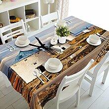 Z&N Luxus Polyester Faser staubdicht Antifouling wasserdicht 3d Nachttisch Tischdecke Tee Tuch für jede Gelegenheit Party Abendessen Tischdecke(M3),B,228*228cm