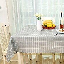 Z&N Modern einfach Leinen Tischdecke Couchtisch Tuch geeignet für Nachttische Mikrowelle TV Kühlschrank Klavier Hotel Mehrzweck-TischdeckenA70*70cm
