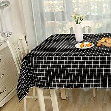 Z&N Modern einfach Leinen Tischdecke Couchtisch Tuch geeignet für Nachttische Mikrowelle TV Kühlschrank Klavier Hotel Mehrzweck-TischdeckenB140*220cm