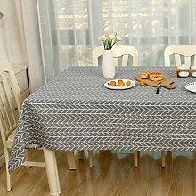 Z&N Modern einfach Leinen Tischdecke Couchtisch Tuch geeignet für Nachttische Mikrowelle TV Kühlschrank Klavier Hotel Mehrzweck-TischdeckenD 60*90cm