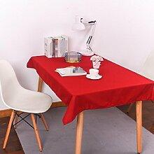 Z&N Modern Stil Hochwertig KüChentextilien KüChe Restaurant Weich Leinen Tischdecken Party Hotel Garten Hochzeit Dekoration Tisch Stoff Wachstuch Alle Farbe GrößE Anti-ÖL Langlebig ,red,140*220cm