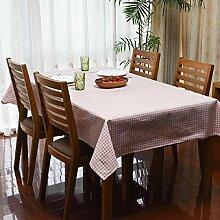 Z&N Moderne Pastoral Flachs Heimtischdecke Couchtisch Tuch Multifunktions-Staub Tuch geeignet für Outdoor-Picknick Party Tischdecke wasserdicht Anti-FoulingPink140*200cm
